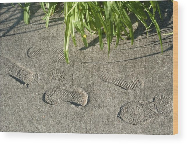 Foot Wood Print featuring the photograph Foot Prints by Jon Benson