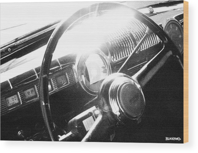 Ford Wood Print featuring the photograph Ford Super Deluxe by Al Blackford
