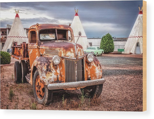 66 Wood Print featuring the photograph Ford Truck by Diana Powell