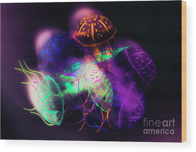Purple Wood Print featuring the photograph Forms And Merger by Jorgo Photography - Wall Art Gallery