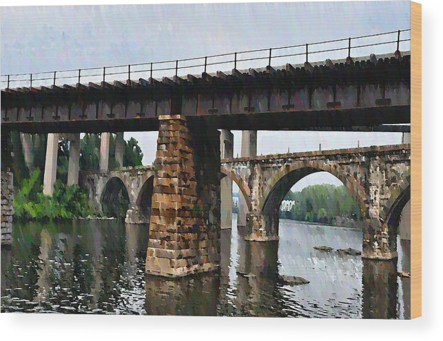 Bridge Wood Print featuring the photograph Four Bridges Of East Falls by Bill Cannon