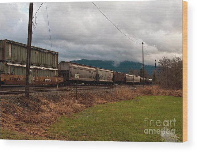 Clay Wood Print featuring the photograph Freight Rain by Clayton Bruster