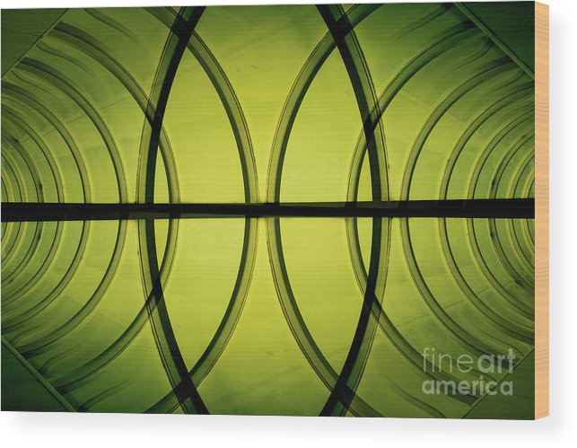Green Wood Print featuring the photograph Futuristic Abstract by Benjamin Harte