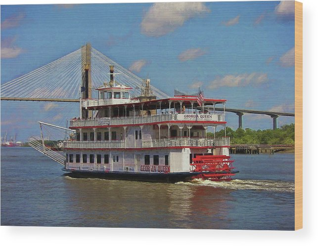 Riverboat Wood Print featuring the photograph Georgia Queen by JAMART Photography