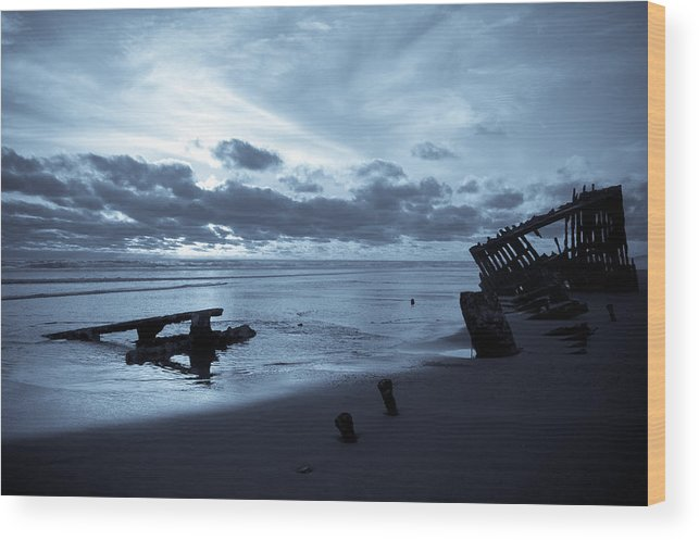 Shipwreck Wood Print featuring the photograph Ghost Ship by Jennifer Owen