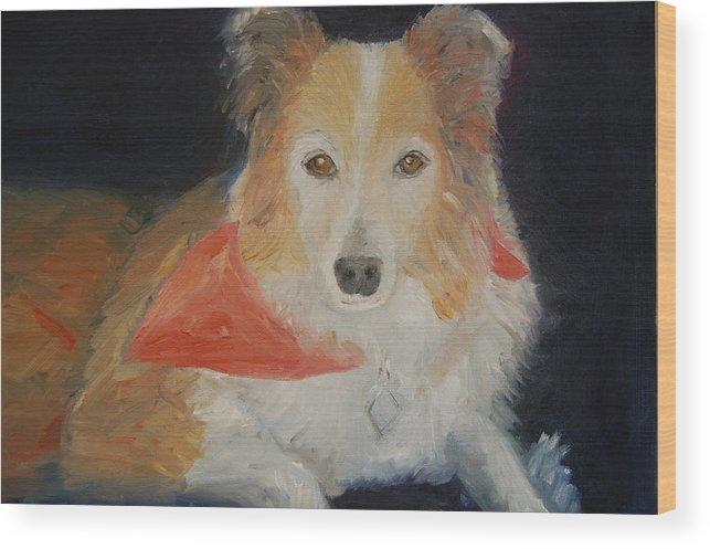 Konkol Wood Print featuring the painting Ginger by Lisa Konkol