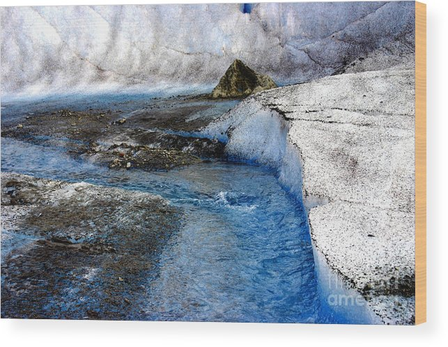 Glacier Wood Print featuring the photograph Glacial Stream by Valerie Fuqua