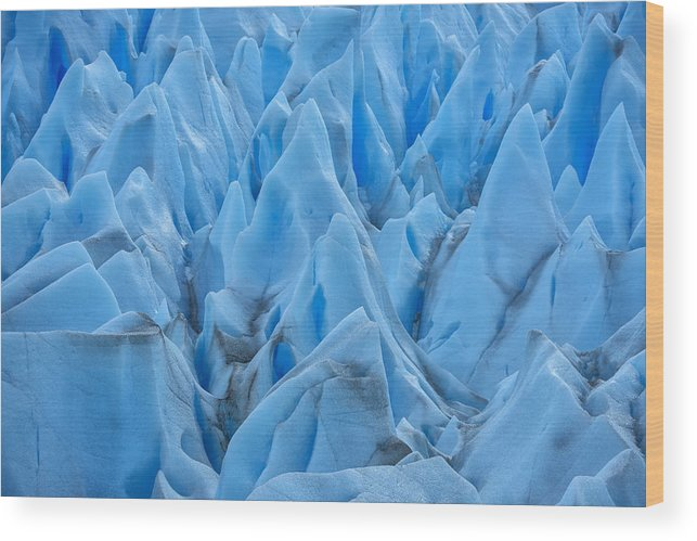 South America Wood Print featuring the photograph Glacier by Christian Heeb