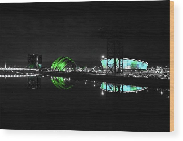Glasgow Wood Print featuring the photograph Glasgow Riverside by James Fox