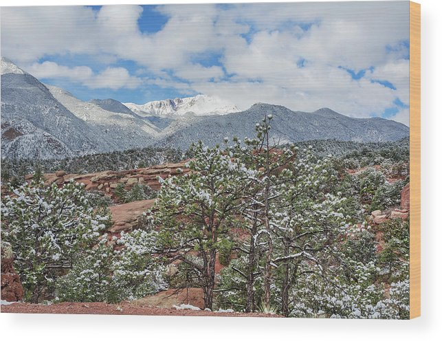 Garden Of The Gods Wood Print featuring the photograph God Boreas Chilling The Air With His Icy Breath by Bijan Pirnia