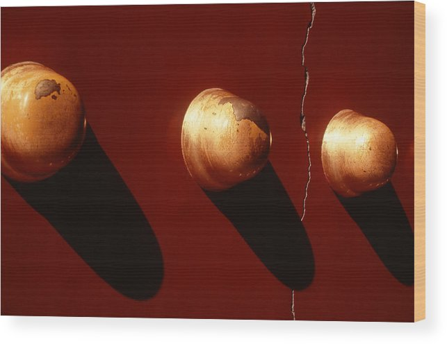 Gold Wood Print featuring the photograph Golden Knobs by Greg West