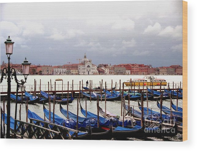Venice Wood Print featuring the photograph Gondolas In Venice by Michael Henderson