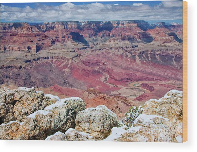 Landscape Wood Print featuring the photograph Grand Canyon In Arizona by Julia Hiebaum
