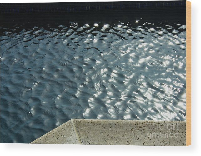 Water Wood Print featuring the photograph Graphic Pool by Julia Hiebaum
