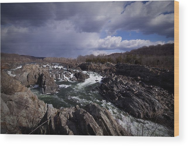 Water Falls Wood Print featuring the photograph Great Falls - January 2011 by Christina Durity
