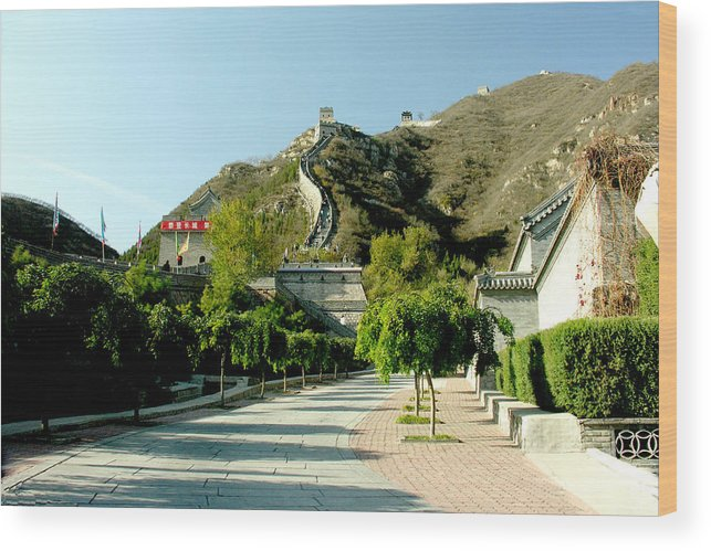 Landscape Wood Print featuring the photograph Great Wall Of China by Ralph Perdomo