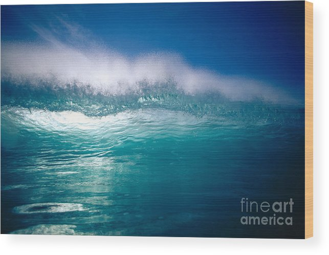 Backlit Wood Print featuring the photograph Green Wave by Vince Cavataio - Printscapes
