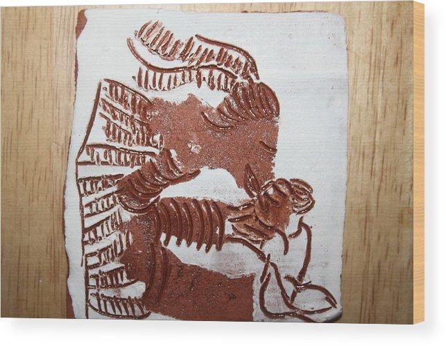 Gloria Photosgloria Photospineapple2pineapple Wood Print featuring the ceramic art Greeting 2 - Tile by Gloria Ssali