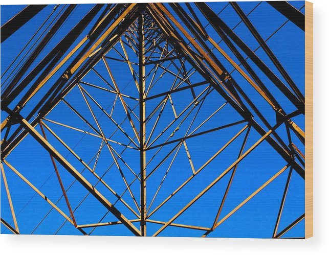 Structure Wood Print featuring the photograph The Grid by Purvis Jordan