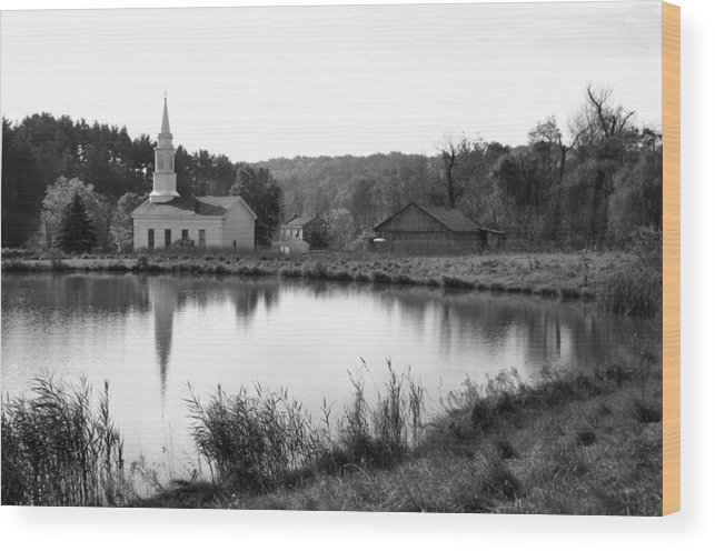Farm Wood Print featuring the photograph Hale Farm by Kristin Elmquist
