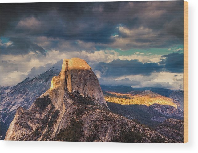 Yosemite Wood Print featuring the photograph Half Dome by Andrew Soundarajan