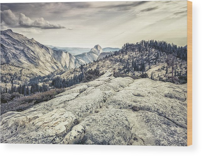 Yosemite Wood Print featuring the photograph Half Dome View by Alexander Kunz