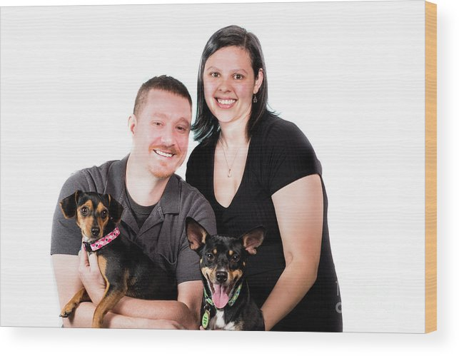 Pet Photos Wood Print featuring the photograph Happy Family by Samuel Jokich