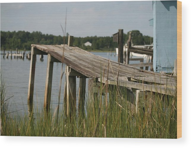Dock Wood Print featuring the photograph Harborton Dock by Karen Fowler