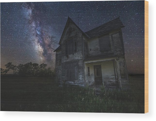 #homegroen Photography Wood Print featuring the photograph Haunted On The Prairie by Aaron J Groen