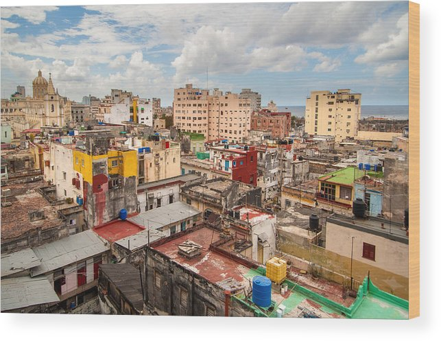 Cuba Wood Print featuring the photograph Havana From Above by Rob Loud