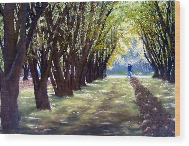 Orchard Wood Print featuring the painting Hazel Green by Carl Capps