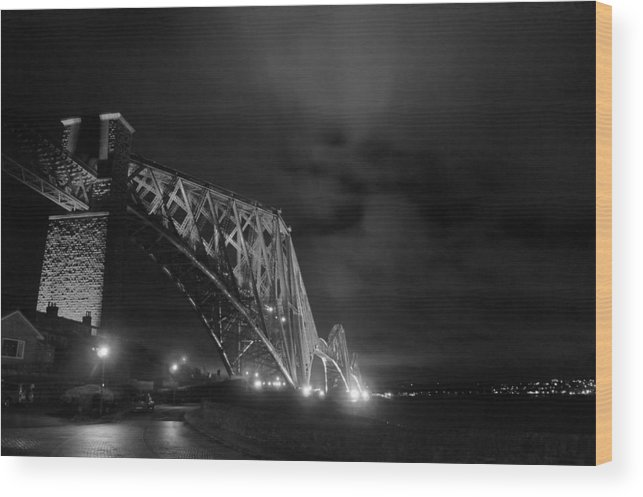 North Queensferry Wood Print featuring the photograph Hazy Lights In The Night by Elena Perelman