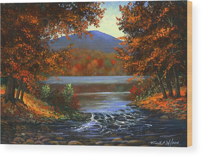 Landscape Wood Print featuring the painting Headwaters by Frank Wilson