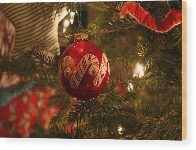 Ornaments Wood Print featuring the photograph Holiday by Becca Wilcox