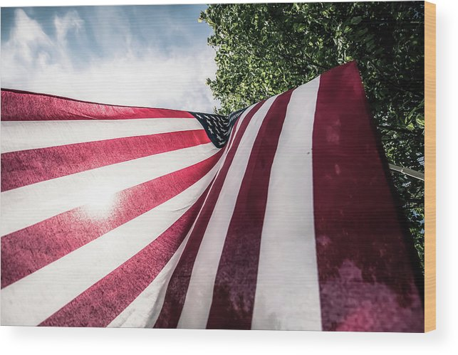 American Wood Print featuring the photograph Home Of The Free by Patricia Mast