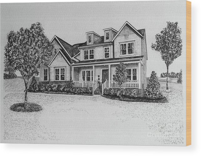 Home Wood Print featuring the photograph Home Portrait 472017 by Robert Yaeger