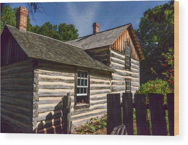 Cabin Wood Print featuring the photograph Home Sweet Home by Robert Coffey