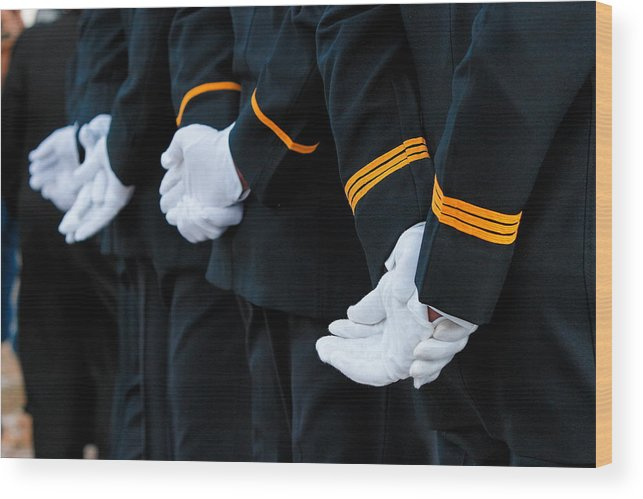 Military Wood Print featuring the photograph Honor Guard by Lone Dakota Photography