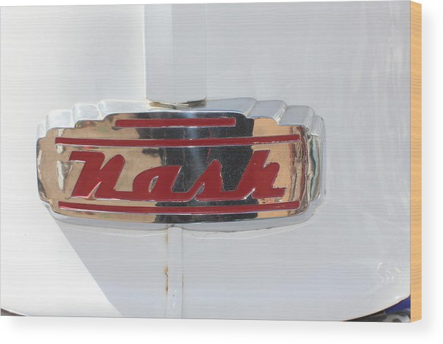 Automobile Wood Print featuring the photograph Hood Badge by Douglas Miller