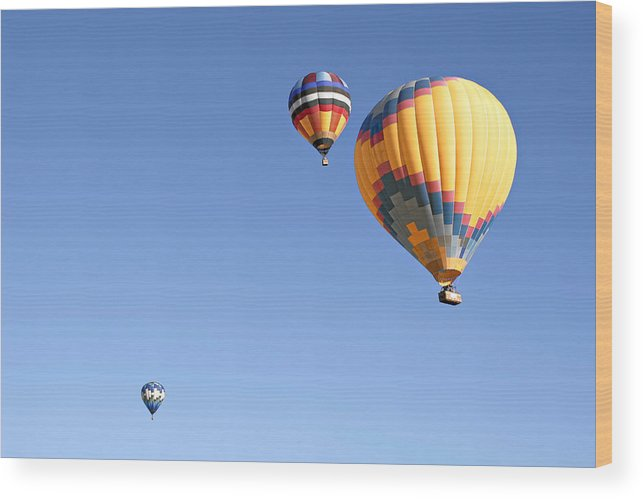 Balloons Wood Print featuring the photograph Hot Air Balloon Ride A Special Adventure by Christine Till