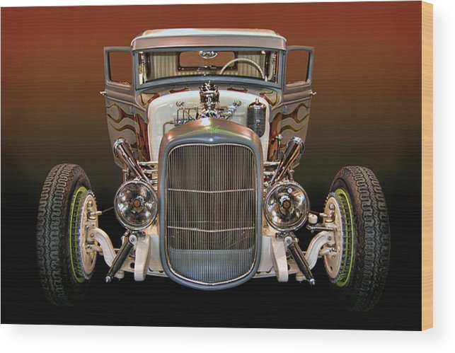 32 Wood Print featuring the photograph Hot Rod Lincoln Too by Bill Dutting