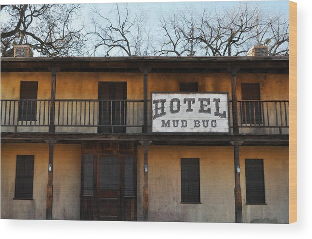 Hotel Wood Print featuring the photograph Hotel Mud Bug Paramount Ranch by Kyle Hanson