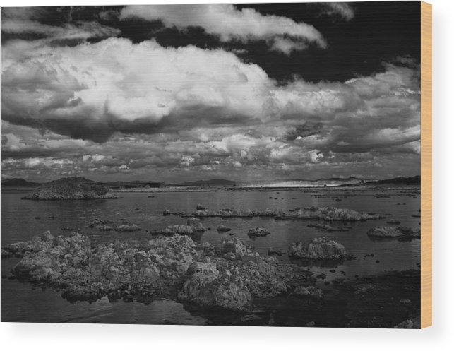 Clouds Wood Print featuring the photograph Hovering by Jessica Roth