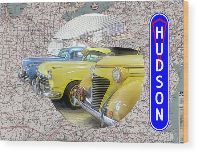 Hudson Wood Print featuring the digital art Hudson 1 by Barry Wills
