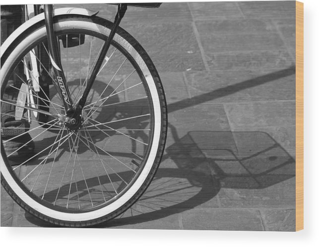 Bicycle Wood Print featuring the photograph Huffy Shadow by Lauri Novak