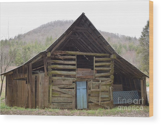 Barn Wood Print featuring the photograph Humble Cross by Davis FlowerPower