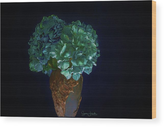 Floral Wood Print featuring the photograph Hydrangea by Susan Heath