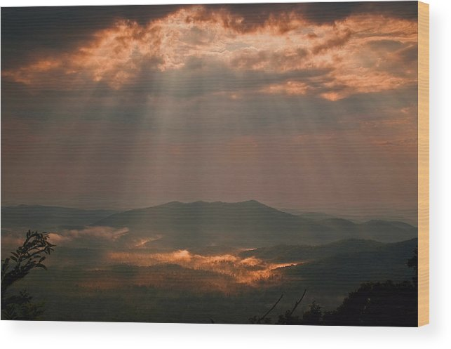 Landscape Wood Print featuring the photograph I Feel Your Presence. by Itai Minovitz
