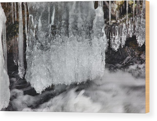 Rcouper Wood Print featuring the photograph Ice 2 by Rick Couper