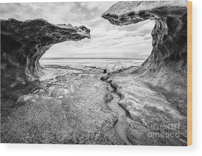 Winter Wood Print featuring the photograph Ice Forms by Nino Marcutti